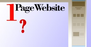 what is single page website
