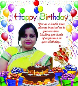Happy birthday Deepa mam